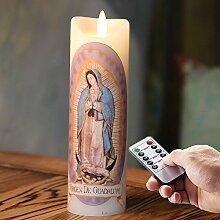 6.7 '' Flammenlose Led echtwachs Kerze mit
