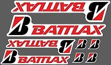 6 Aufkleber Bridgestone Battlax Verschiedene