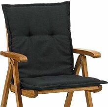 6 Auflagen fuer Niederlehner Sessel 103 x 52 cm Miami 50148-52 in schwarz (ohne Stuhl)