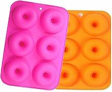 6-cavity Silikon Donut Formen Set von 2,