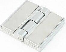 6 cm x 6 cm, Edelstahl, Schublade, Tür mit Scharnieren, Silberfarben