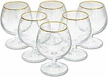 6 Cognacgläser aus Kristallglas, Cognac Glas,