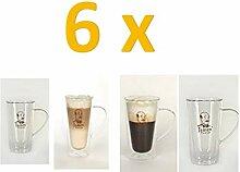 6 doppelwandige Latte Macchiato Gläser