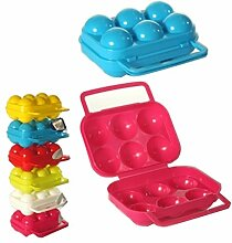 6 Eier Eierdose Eierbox Aufbewahrungsbox Transportbox Eierbehälter Dose Box