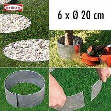 6-er Set Rasenkante Kreis Ø 20 cm H. 13 cm 10097
