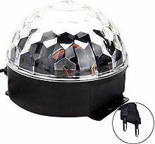 6-Farb Wechselnden Musik Voice Control LED Crystal Ball Dekoration Bühne Lampe für Xmas Party Pub-Outdoor-Aktivitäten