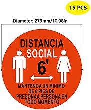 6 Feet Soziale Distanzierung