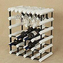 6 Flasche 1-Massivholz-Weinregal mit