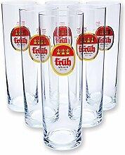 6 Früh Kölsch Stangen Kölschstangen Gläser