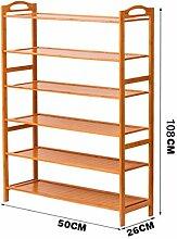 6 Fußböden Schuh-Rack Massivholz Einfache Lagerung Schrank Möbel Bambus Organizer Regale ( größe : 50 cm )