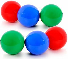 6 Garten Kugeln Schwimm Leuchten Nacht Licht Außen Lampe Beleuchtung Rot Grün Blau