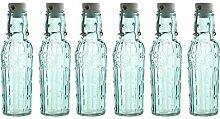 6 Glasflaschen 500ml mit Bügelverschluss und