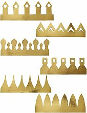 6 Golden Gold Party Crown Hat King Queen Drama Play Art Craft Christmas Birhtday by Concept4u