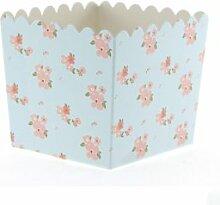 6 Hellblaue Schicke Blumen-Snack-Schachteln -