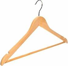 6 Holz Kleiderbügel mit Kerben Bekleidung und Bar für Kostüme