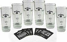 6 Jack Daniels Longdrink Gläser