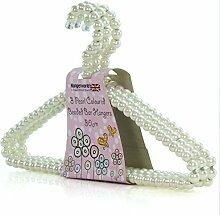 6 Kleiderbügel mit Perlen 30 cm Hangerworld