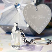 6 Kristall-Baby-Flasche Schlüsselanhänger
