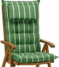 6 Luxus Auflagen für Hochlehner 9 cm dick mit Kopfkissen Miami 20426-200 (ohne Stuhl)