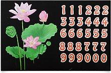 6 Motive Mülltonnenaufkleber Mülleimer Aufkleber Mülltonne Sticker Fenster Wand (Rosa Blume)