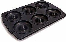 6 Mulden Donut-Pfanne Antihaftbeschichtung Ring
