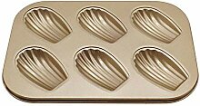 6 Mulden Karbonstahl Kuchen Form DIY Fondant