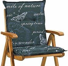 6 Niederlehner Sessel Auflagen 8 cm dick 103 cm lang Ibiza 40240-700 grau (ohne Stuhl)