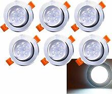 6 Pack 5W LED Einbaustrahler Schwenkbar Kaltweiß
