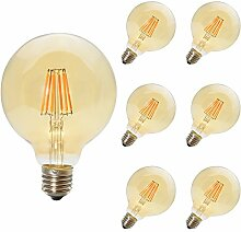 6 Pack 6W E27 Nicht Dimmbar LED Edison Lampe G95