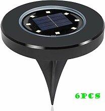 6 Pack Solarleuchten Garten 8LEDs Solarbetriebene