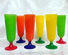 6 Rainbow Gläser, 1970er