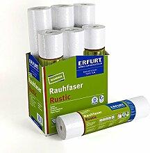 6 Rollen ERFURT Rauhfaser Tapete Rustic - 6 x
