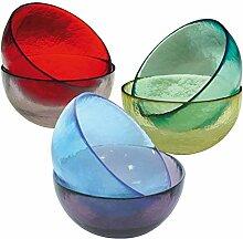 6Schalen aus Glas Murano-Farben sortier