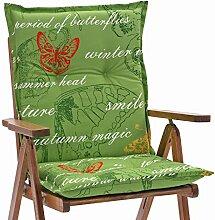 6 Sessel Auflagen 8 cm dick 103 cm lang in gruen Ibiza 40240-215 (ohne Stuhl)