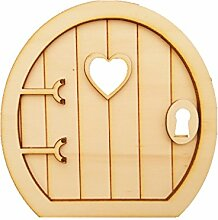 6 Sets Neuheit Holz Fee Türstücke Verzierungen