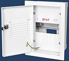 6 Sicherungen Sicherungskasten stahlverzinkt Unterputz Unterputzverteiler Stromverteiler