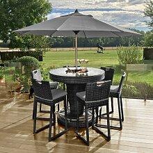 6-Sitzer Bartisch-Set mit Kissen Garten Living