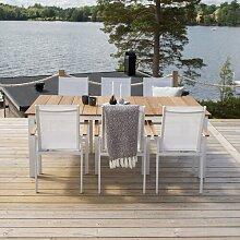 6-Sitzer Gartengarnitur Anoki Ebern Designs