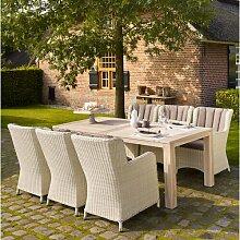 6-Sitzer Gartengarnitur Lillianna mit Polster