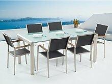 6-Sitzer Gartengarnitur Maxton Ebern Designs Farbe