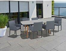6-Sitzer Gartengarnitur Vasques Ebern Designs