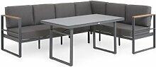 6-Sitzer Lounge-Set Elvan mit Polster