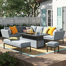 6-Sitzer Lounge-Set Galion aus Rattan Garten Living