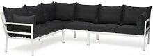 6-Sitzer Lounge-Set mit Polster