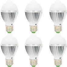 6 Stück 5 Watt E27 LED Lampe Birne Glühlampe