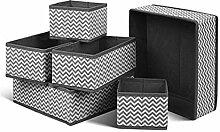 6 Stück Aufbewahrungsbox Stoff Set faltbar