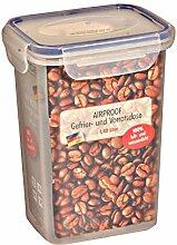 6 Stück AXENTIA Airproof Kaffeedosen, Vorratsdosen, Frischhaltedosen Multifunktionsboxen 1,40 Liter, rechteckig, 13,5 x 10,5 x 18 cm, Set by Danto®