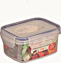 6 Stück AXENTIA Vorratsdosen Airproof, Gefrierdosen, Frischhaltedosen, Multifunktionsboxen 0,48 Liter, rechteckig, 13,5 x 10,5 x 6,5 cm, Set by Danto®