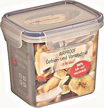 6 Stück AXENTIA Vorratsdosen Airproof, Gefrierdosen, Multifunktionsboxen 0,90 Liter, rechteckig, 13,5 x 10,5 x 11,5 cm, Set by Danto®