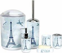 6 Stück Badezimmer-Accessoires Set, Plastikbad